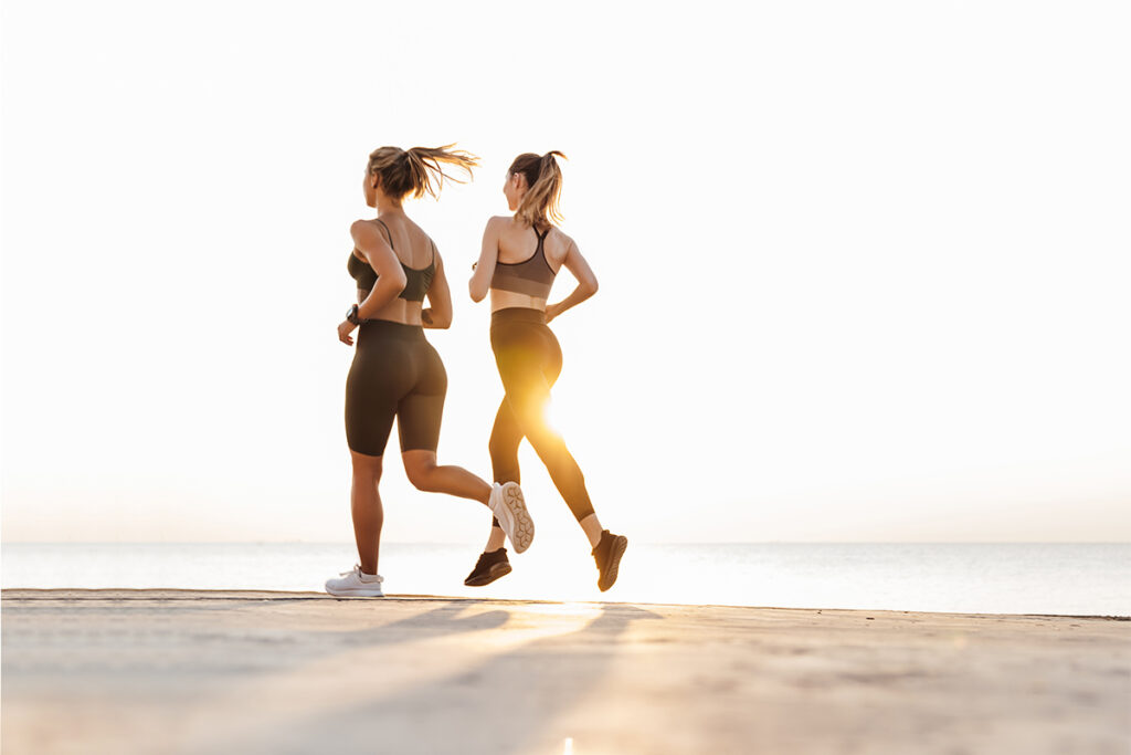 Women doing walking workout