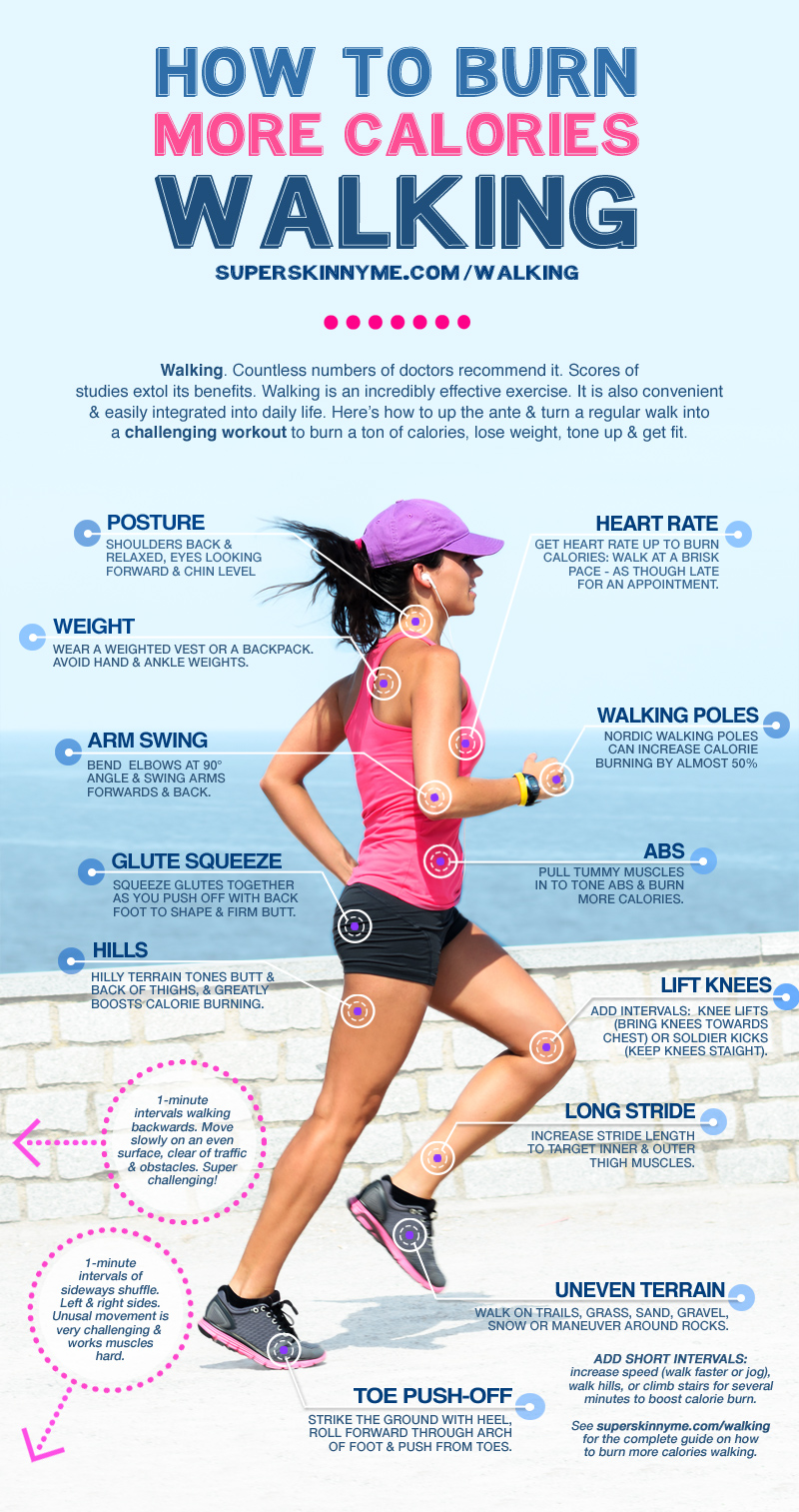 How to burn more calories walking & lose weight