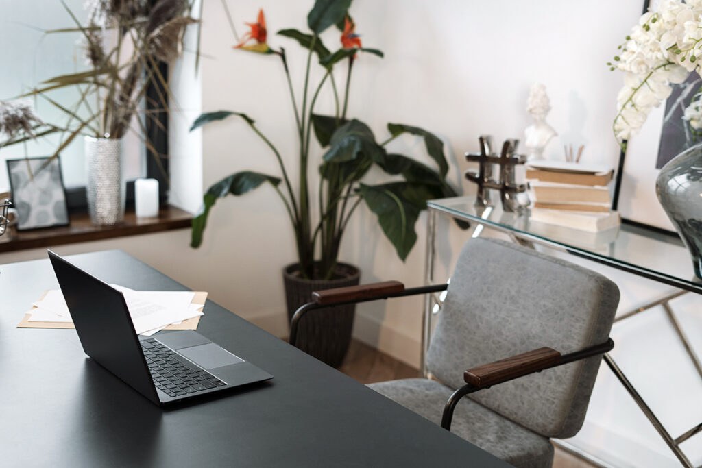 Ergonomic home office desk and chair