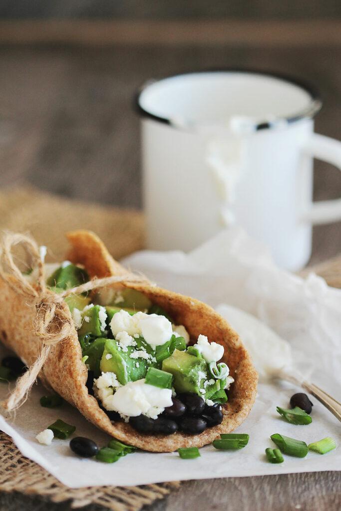 Black Bean Tacos with Avocado