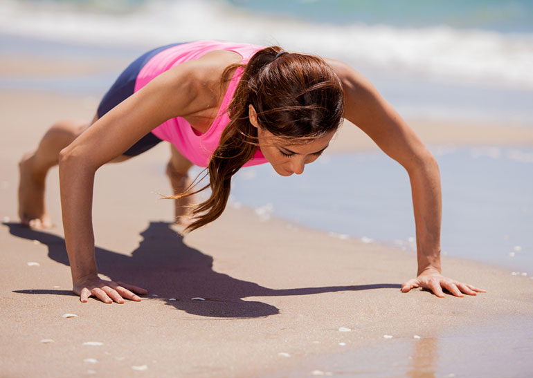 Best exercises to do at the beach