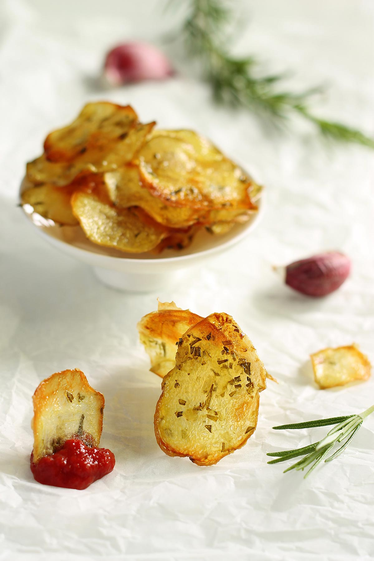 Healthy homemade potato chips