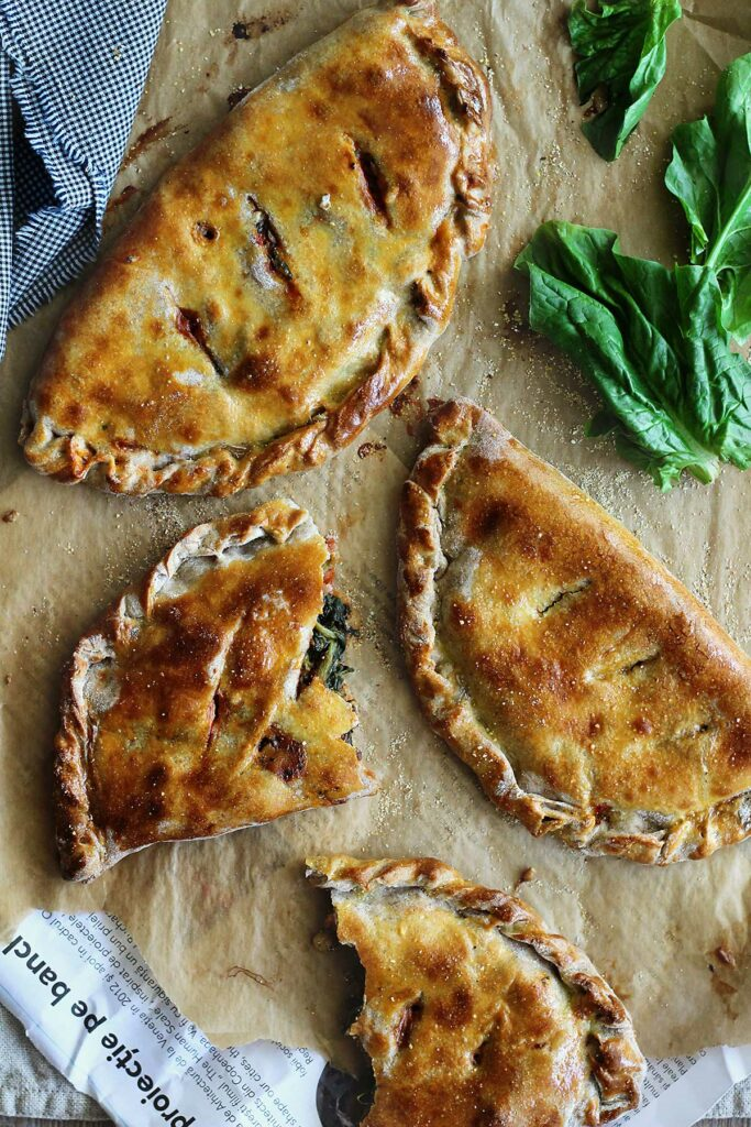 Spinach and Goat Cheese Calzone