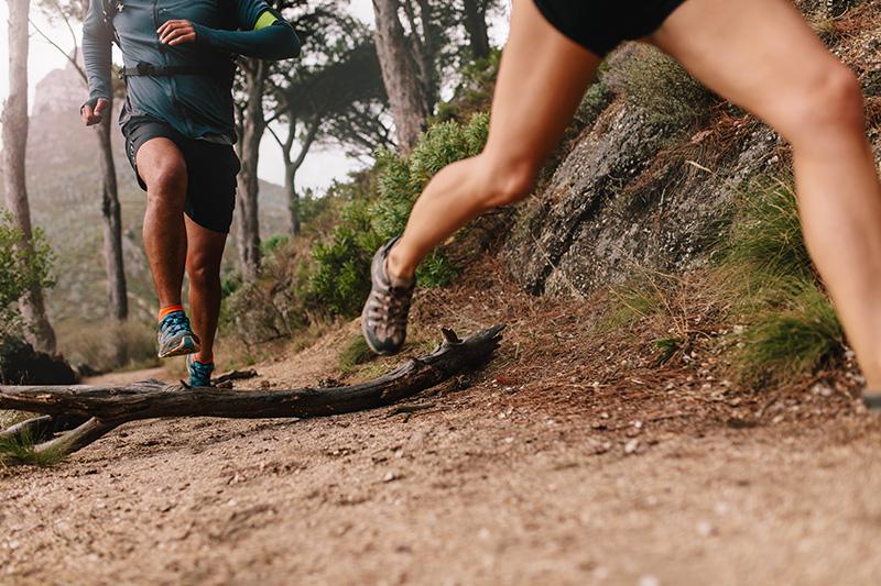 Trail runners doing fartllek workout