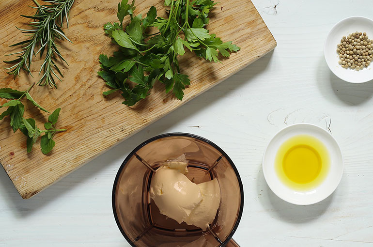 Doubling as both a dressing and a dip, drizzle green goddess dressing ...