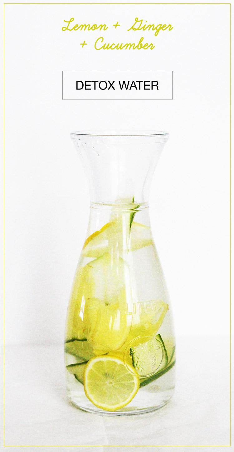 Lemon Ginger Cucumber Detox Water