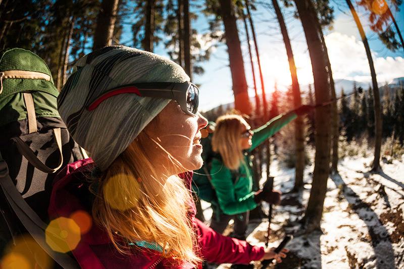 Women Nordic walking