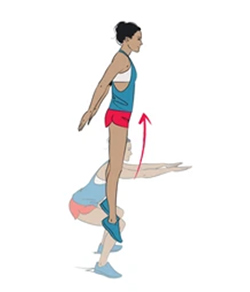 How to do squat jumps illustration